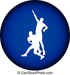 basketball silhouette vector - basketball players in action...