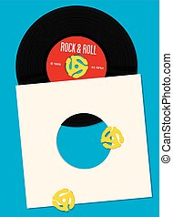 Vinyl Record Design Template - Vector design featuring...