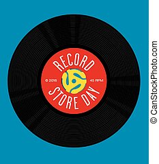 Record Store Day Design - Vector design featuring...