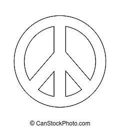 Hippie Peace Symbol icon illustration
