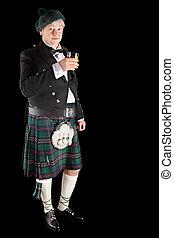 escocés, tostada, whisky