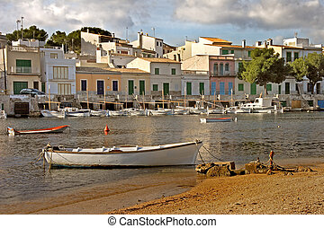 Mallorcan Harbour - The harbour of Portocolom on the South...