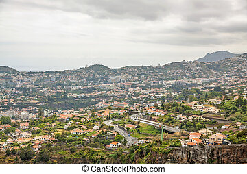 Funchal, Madeira - View over Funchal, Madeira, Portugal from...