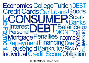 Consumer Dept Word Cloud on White Background