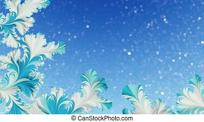 Abstract winter motion background
