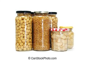 canned vegetables - several jars of canned vegetables...