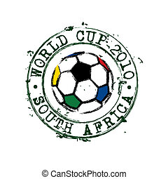 World cup 2010 stamp - Rubber stamp for the 2010 football...