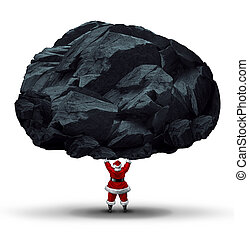 Lump Of Coal Symbol - Lump of coal symbol as a punishment...