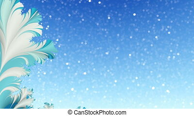 Abstract winter dynamic background - Blue and white abstract...