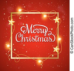 Christmas frame with greeting inscription