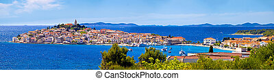 Town of Primosten panoramic view, Dalmatia, Croatia