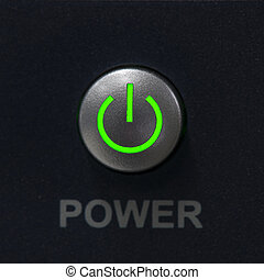 Power switch push button. - Power switch push button and...