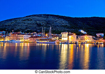 Island of Vis evening view, Dalmatia, Croatia