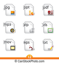 Sticker series 12 - files - Icon set from a series in my...