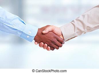 Business Handshake. - Handshake. Hands of businessman...