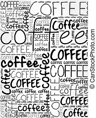 Coffee words cloud poster background