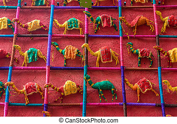 Toy camels for sale - Many colorful hand made toy camels...
