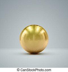 3D golden sphere - 3D metallic sphere with reflections....