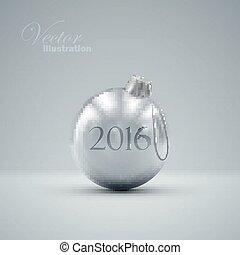Christmas ball Happy New 2016 Year - Christmas ball Holiday...