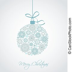 Vector Christmas ball - Christmas ball made from snowflakes...
