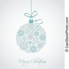 Vector Christmas ball - Christmas ball made from snowflakes...
