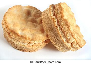 Gluten-free bread rolls - Two bread rolls made of...