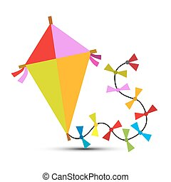 Kite Vector Isolated on White