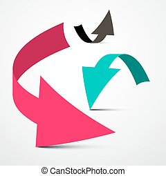 Arrows Set Vector Isolated on Light Background