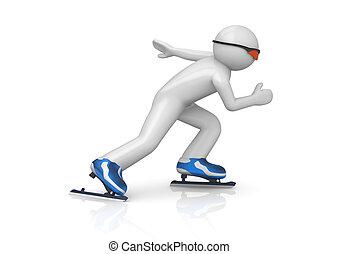 Skater speeding up