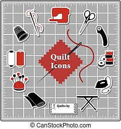 Quilting Stickers, Cutting Mat - Quilting Stickers for DIY...