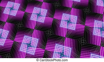 Pulsing Neon - A backdrop of pulsing blue and purple neon...