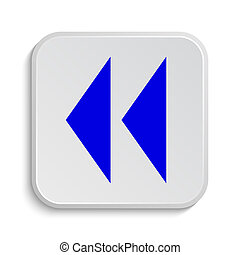 Rewind icon Internet button on white background