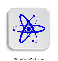 Atoms icon. Internet button on white background.
