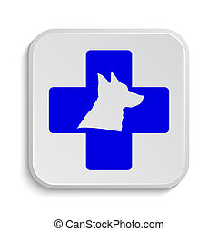Veterinary icon Internet button on white background