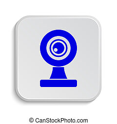 Webcam icon Internet button on white background