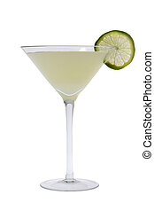 Gimlet cocktail - Gimlit mixed drink with lime slice on a...
