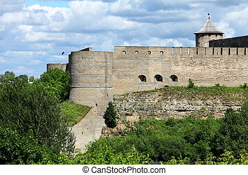 View of the Ivangorod Fortress