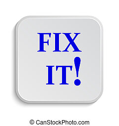Fix it icon. Internet button on white background.