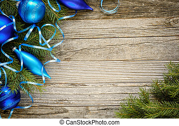 Christmas Tree Branches with Ornaments