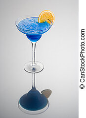 Blue Hawaiian Cocktail - Frozen Blue Hawaiian mixed drink...