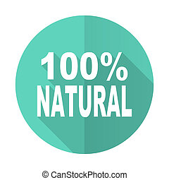 natural blue flat desgn circle icon with long shadow on...