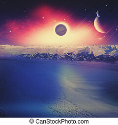 Alien worlds Universe Abstract science backgrounds NASA...