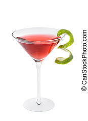 Cosmopolitan cocktail - Cosmopolitan mixed drink with lime...