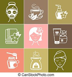 Spa and Wellness icons