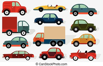 Cars collection - Vector illustration of various cars...