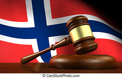 Norway Law Legal System Concept - Norway law, legal system...