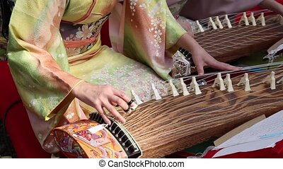 Japanese traditional instrument - KAGAWA, JAPAN - NOVEMBER...