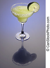 Frozen Marguerita Cocktail - Frozen Margarita mixed drink...