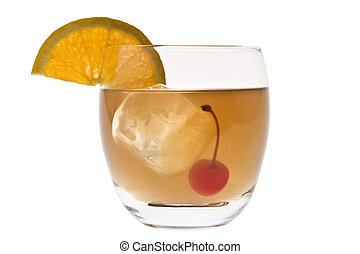 Whiskey Sour cocktail on a white background - Whiskey Sour...