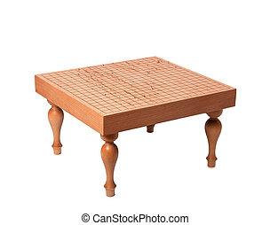 "Beautiful wooden table for boardgame ""Go"" - Beautiful wooden..."